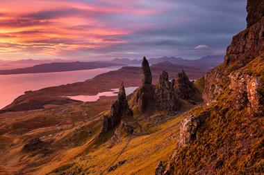 Old Man of Storr, skalní katedrála na ostrově Skye